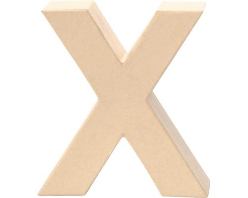 Buchstabe X Pappe 17,5x5,5 cm