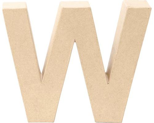 Buchstabe W Pappe 17,5x5,5 cm