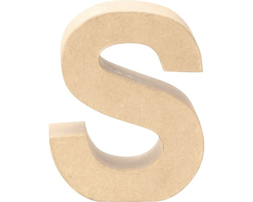 Buchstabe S Pappe 17,5x5,5 cm