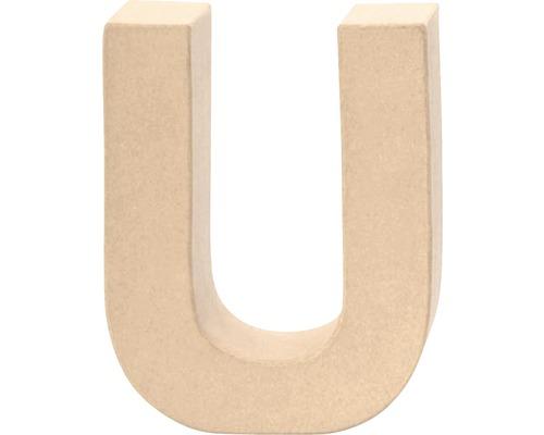 Buchstabe U Pappe 17,5x5,5 cm