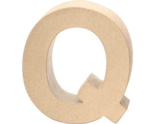 Buchstabe Q Pappe 17,5x5,5 cm