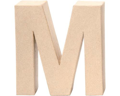 Buchstabe M Pappe 17,5x5,5 cm
