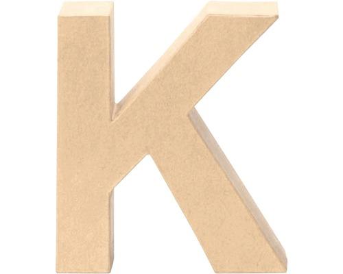 Buchstabe K Pappe 17,5x5,5 cm
