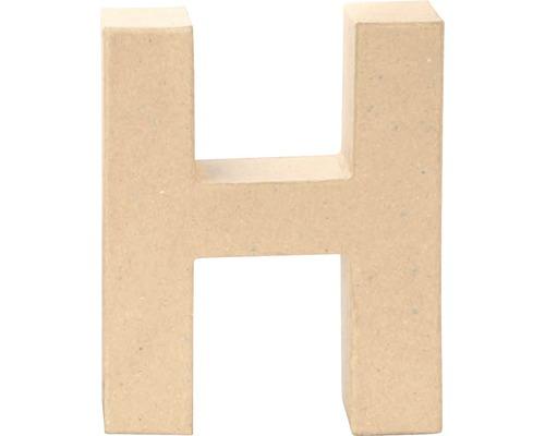 Buchstabe H Pappe 17,5x5,5 cm