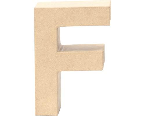 Buchstabe F Pappe 17,5x5,5 cm