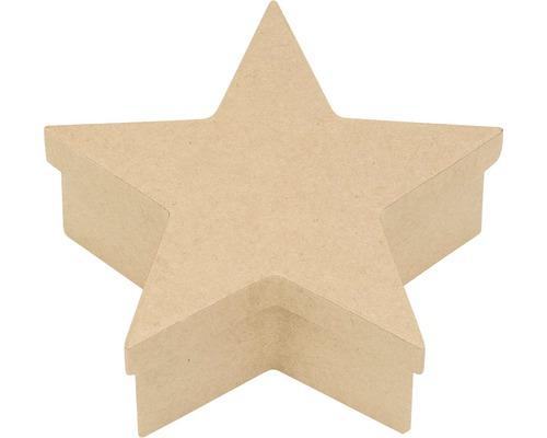 Kiste Stern Pappe 18x17,2x6,5 cm