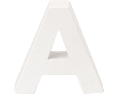 Buchstabe A Pappe weiß 3,5x10 cm