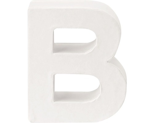 Buchstabe B Pappe weiß 3,5x10 cm