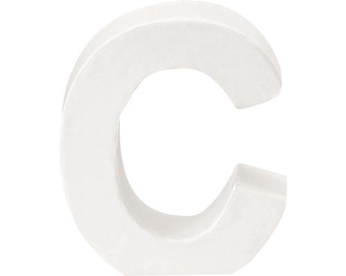 Buchstabe C Pappe weiß 3,5x10 cm