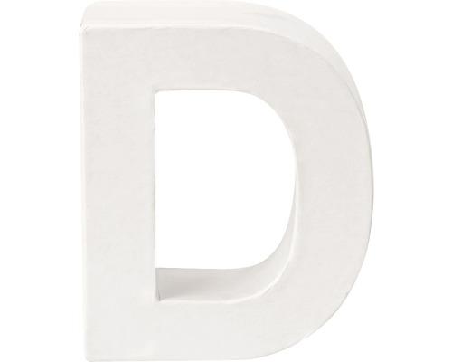 Buchstabe D Pappe weiß 3,5x10 cm