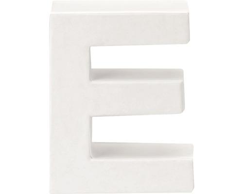 Buchstabe E Pappe weiß 3,5x10 cm