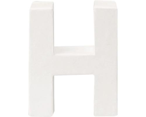 Buchstabe H Pappe weiß 3,5x10 cm