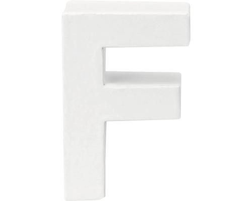 Buchstabe F Pappe weiß 3,5x10 cm
