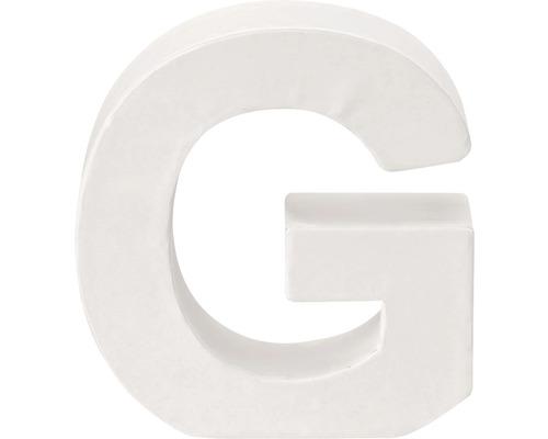 Buchstabe G Pappe weiß 3,5x10 cm