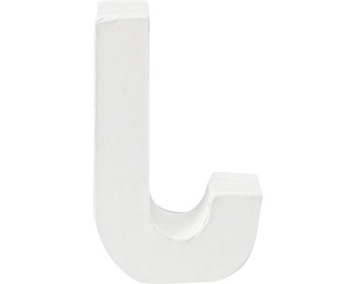 Buchstabe J Pappe weiß 3,5x10 cm