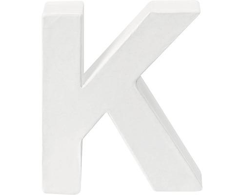 Buchstabe K Pappe weiß 3,5x10 cm