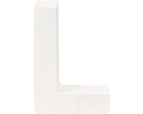 Buchstabe L Pappe weiß 3,5x10 cm
