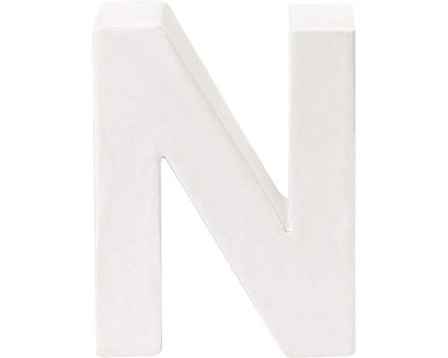 Buchstabe N Pappe weiß 3,5x10 cm