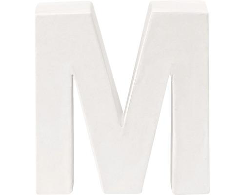 Buchstabe M Pappe weiß 3,5x10 cm