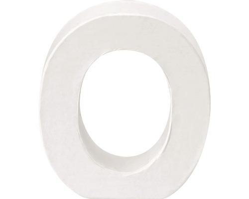 Buchstabe O Pappe weiß 3,5x10 cm