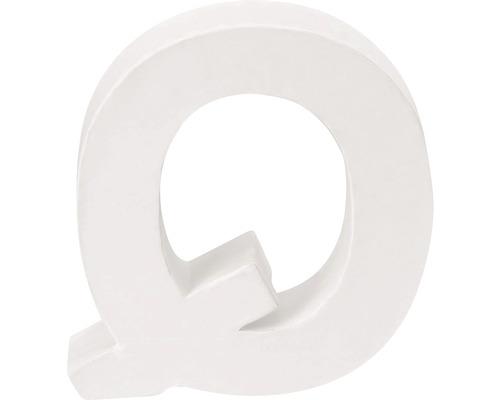 Buchstabe Q Pappe weiß 3,5x10 cm