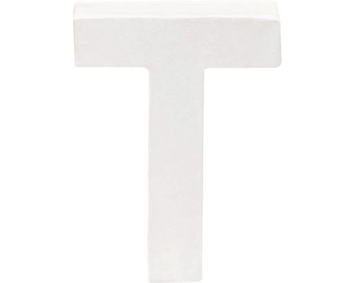 Buchstabe T Pappe weiß 3,5x10 cm