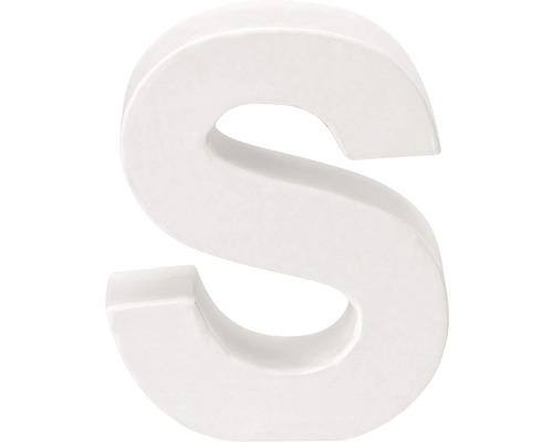 Buchstabe S Pappe weiß 3,5x10 cm