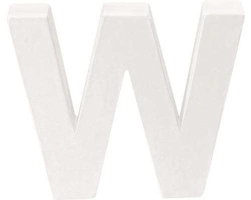 Buchstabe W Pappe weiß 3,5x10 cm