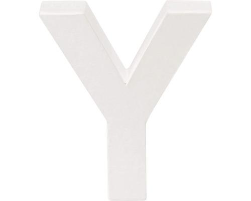 Buchstabe Y Pappe weiß 3,5x10 cm