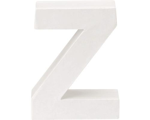 Buchstabe Z Pappe weiß 3,5x10 cm