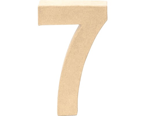 Zahl 7 Pappe 17,5x5,5 cm