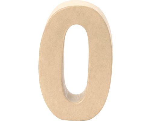 Zahl 0 Pappe 17,5x5,5 cm