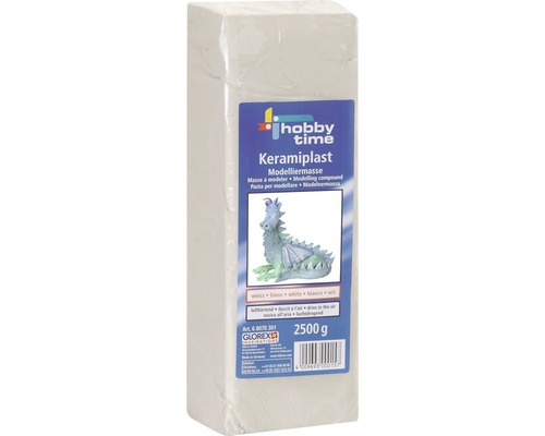 Modelliermasse Keramiplast 1 kg weiß