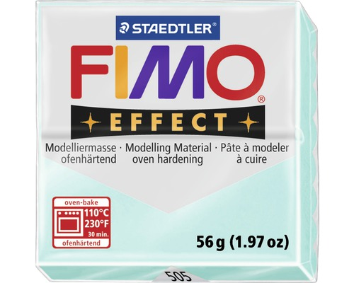 Modelliermasse Fimo Effect 57 g mint transparent / pearl