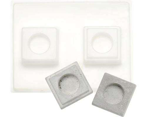 Gießform Relief Teelichthalter 7x7 cm