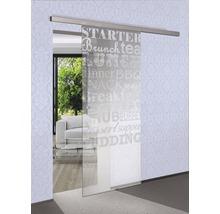 Glasschiebetürblatt Pertura Küche & Co 2050x920x8 mm für Beschlag Selir rechts