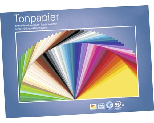 Tonpapier-Set A4 bunt 100 Blatt 21x29,7 cm