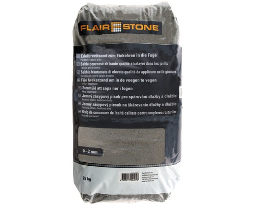 Flairstone Edelbrechsand 0-2 mm grau 25 kg