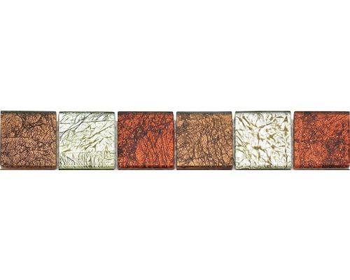 Glasbordüre rot 4,8x30 cm