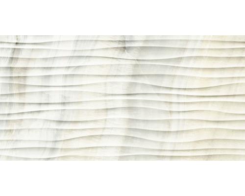 Feinsteinzeug Dekorfliese Dubai pearl 32 x 62,5 cm