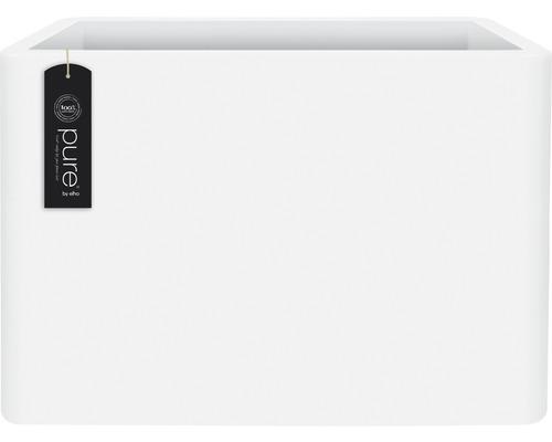 Pflanzkübel elho Pure Soft Brick Divider Kunststoff 79x30x59 cm weiß inkl. Rollen