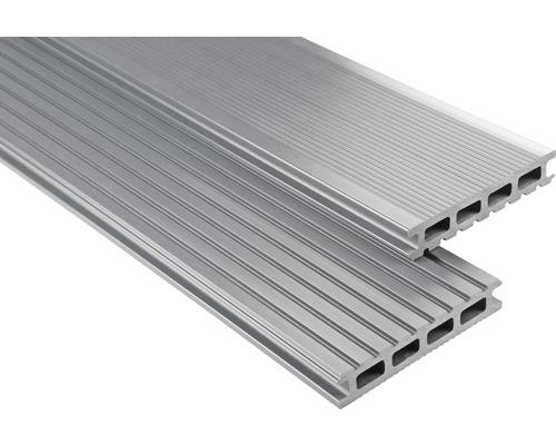 Konsta WPC Terrassendiele Primera grau glatt 26x145x5500 mm