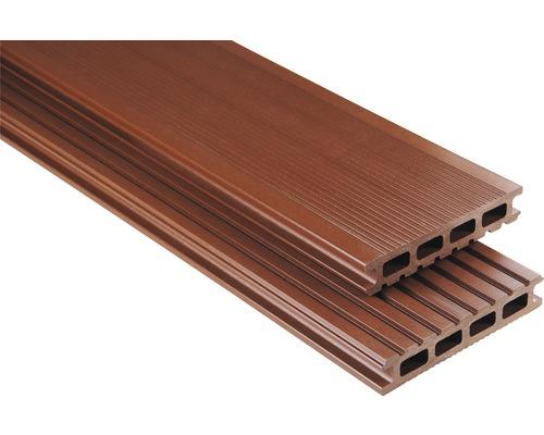 Konsta WPC Terrassendiele Primera braun glatt 26x145x4500 mm
