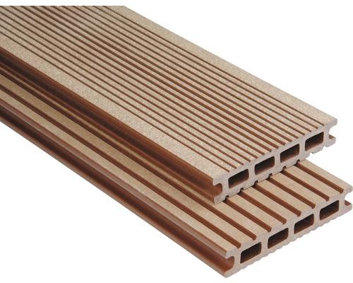 Konsta WPC Terrassendiele Futura braun gebürstet 26x145x4000 mm