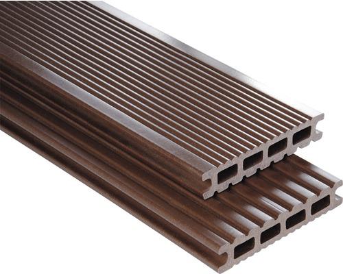 Konsta WPC Terrassendiele Futura schokobraun glatt 26x145x5500 mm