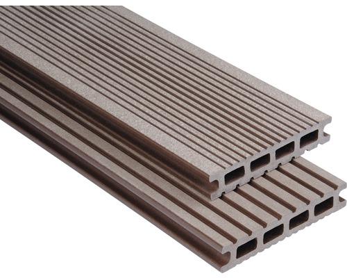 Konsta WPC Terrassendiele Futura schokobraun gebürstet 26x145x4500 mm