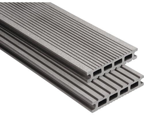 Konsta WPC Terrassendiele Futura graubraun gebürstet 26x145x5000 mm