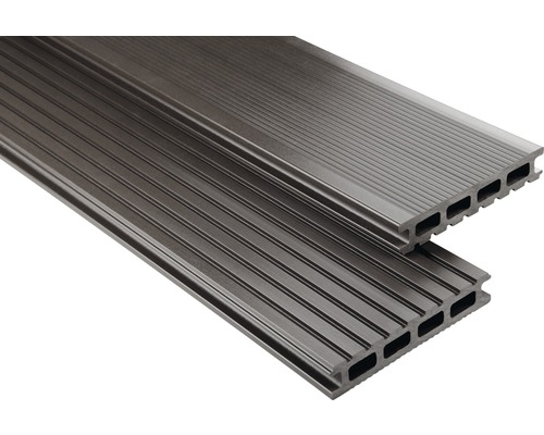 Konsta WPC Terrassendiele Primera graubraun glatt 26x145x4000 mm