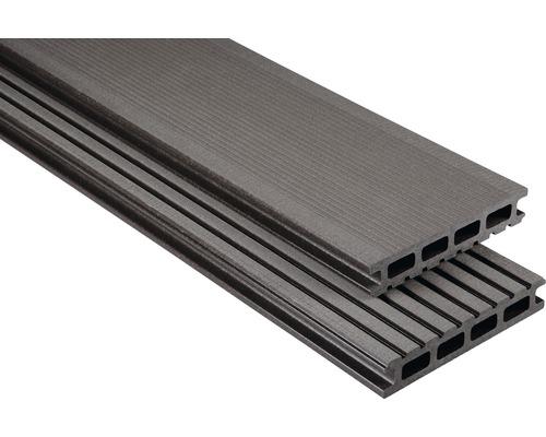 Konsta WPC Terrassendiele Primera graubraun gebürstet 26x145x6000 mm