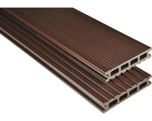 Konsta WPC Terrassendiele Futura schokobraun mattiert 26x145x4000 mm